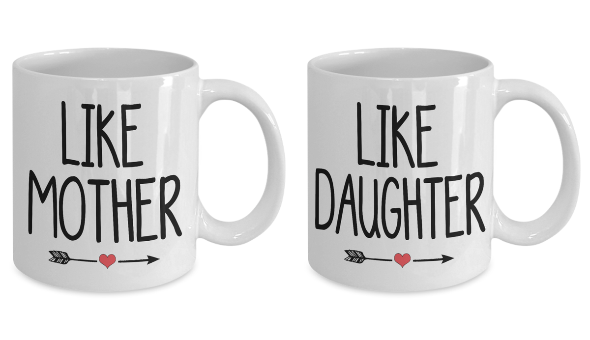 Like Mother Like Daughter Gift Mug Set