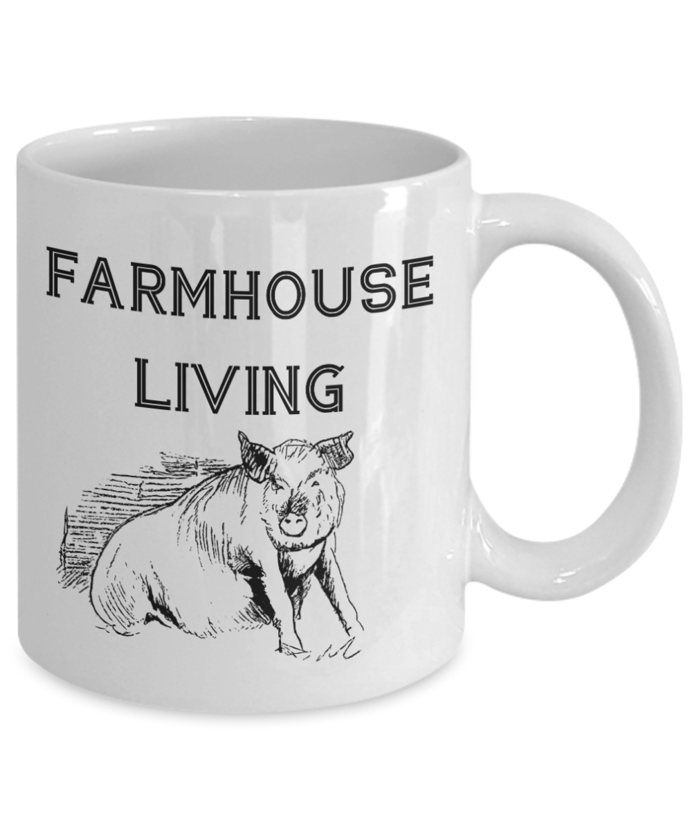 Kitchen Cup Farmhouse Living Farm Fresh Pig Decor Gift Mug