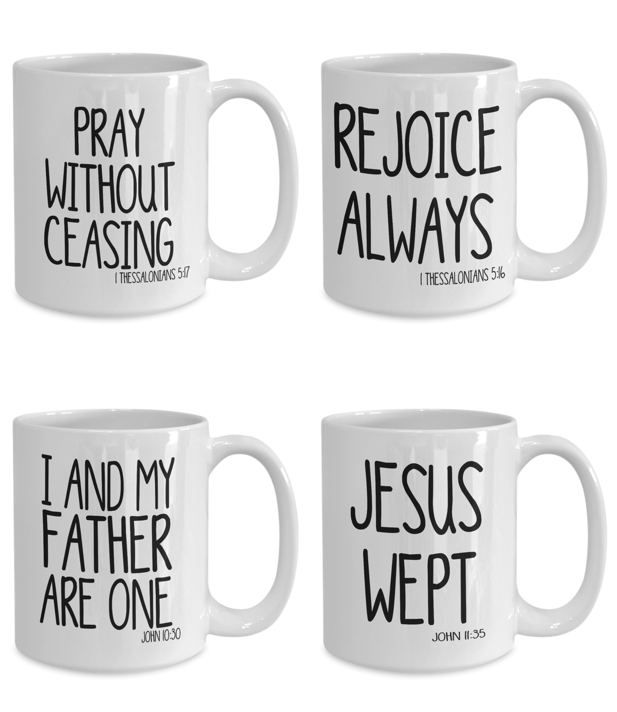 Bible Verse Mug Set Bible Quote Gift Set of 4