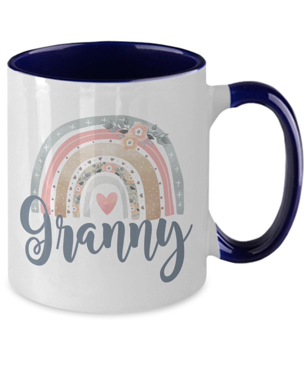 Granny Mug Watercolor Rainbow Coffee Cup