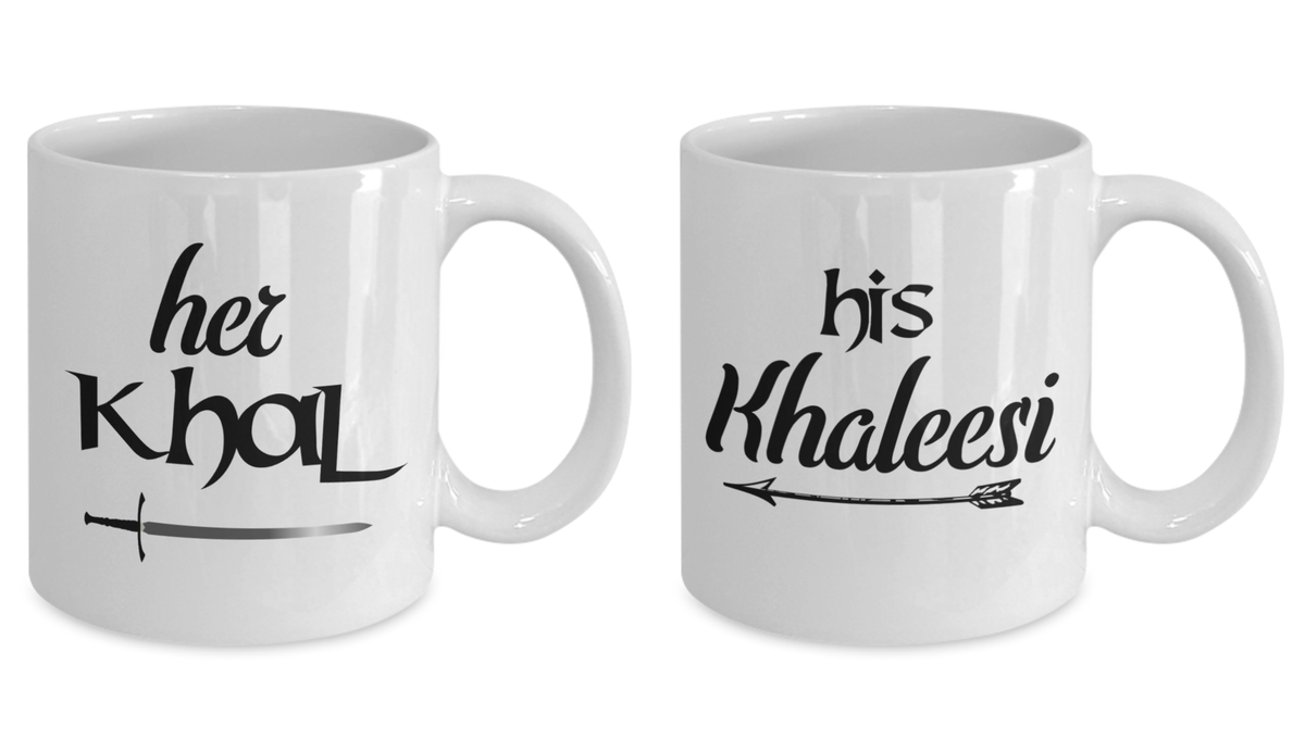 GoT Couples Mug Set Her Khal His Khaleesi Romantic Couples Gift Idea