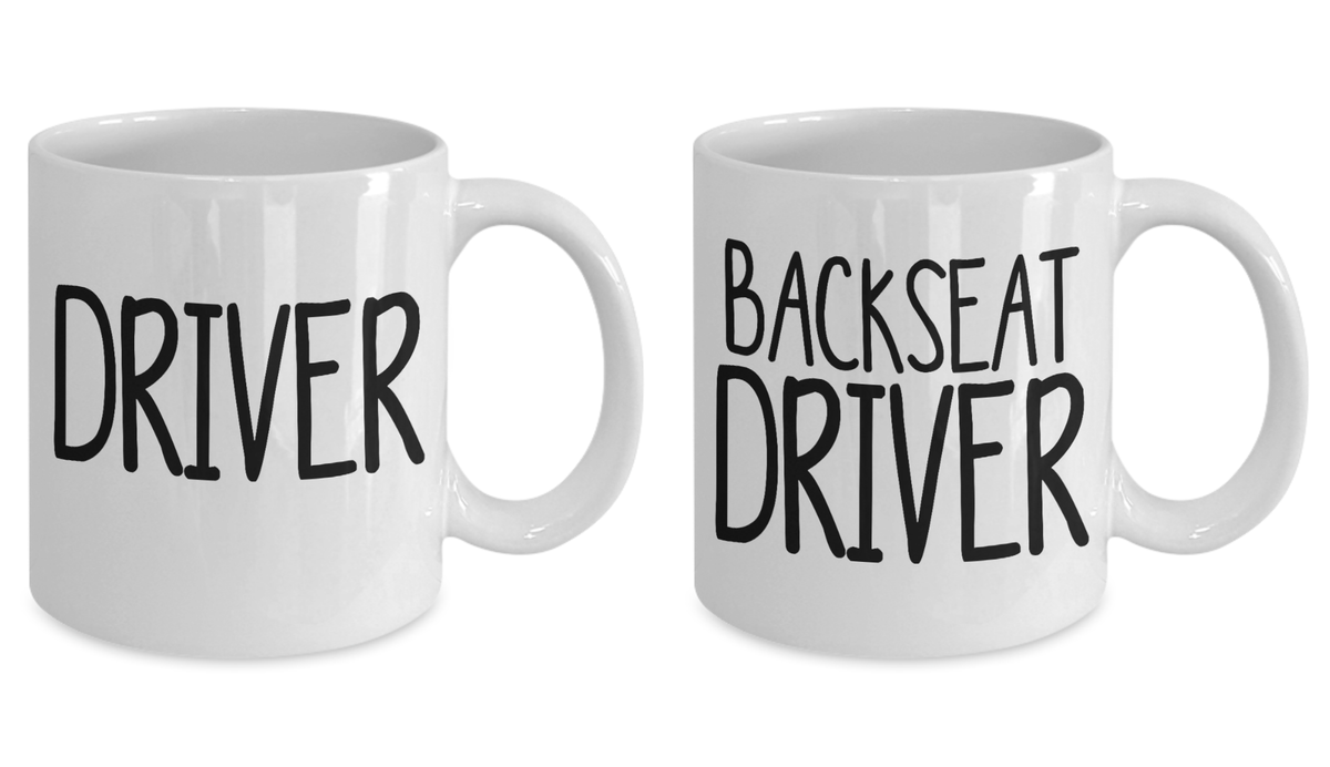 Driver Backseat Driver Couples Mug Set