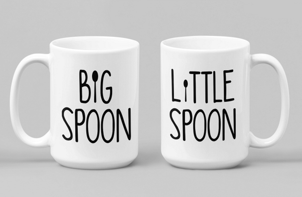 Gifts for Couples Big Spoon Little Spoon Mug Set