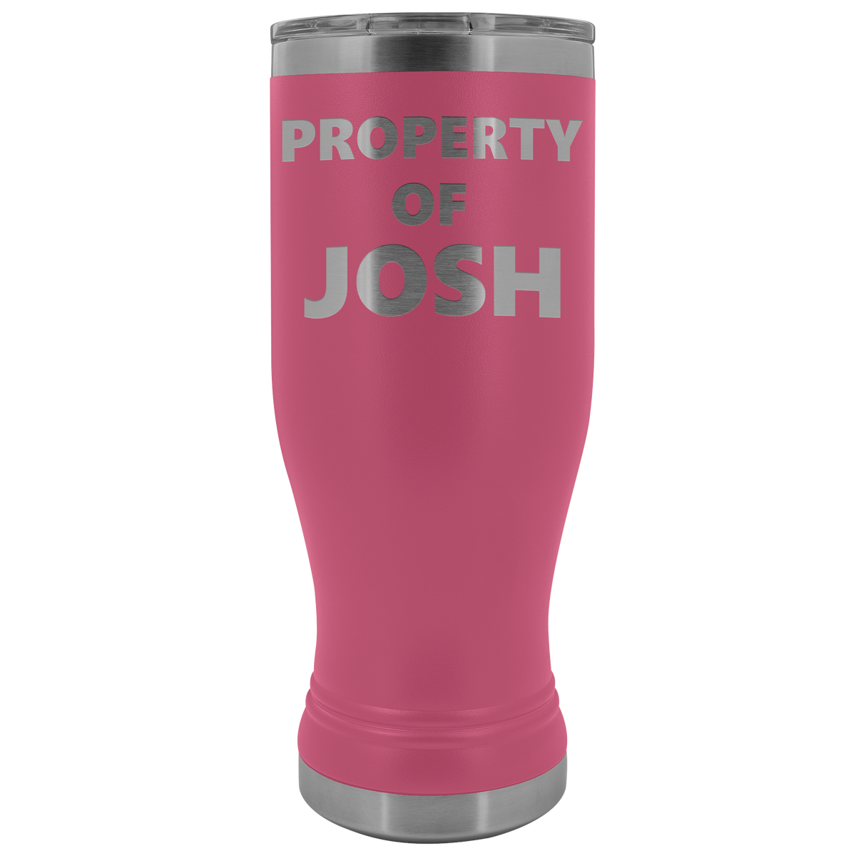Custom Pilsner Tumbler Property Of Personalized BOHO Insulated Tumbler