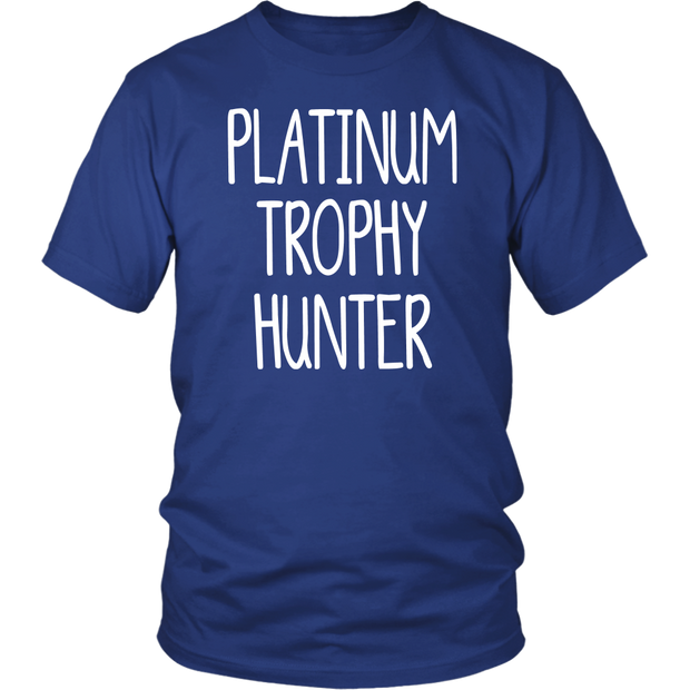 Gamers T-Shirt Platinum Trophy Hunter PS4 Gift Idea