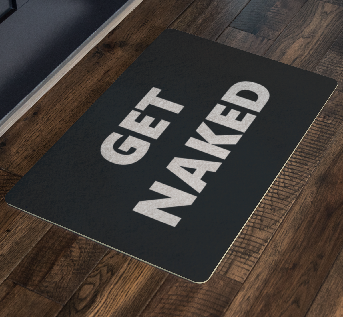 Get Naked Black and White Bath Mat