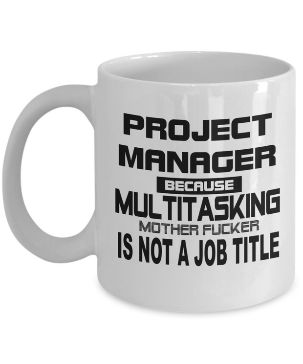 Project Manager Job Title Mug