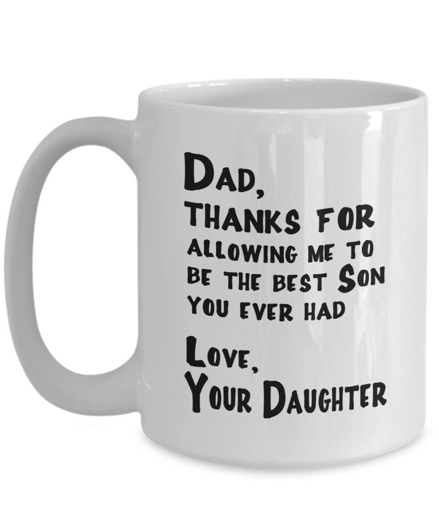 Dad from Daughter Good Humor Mug