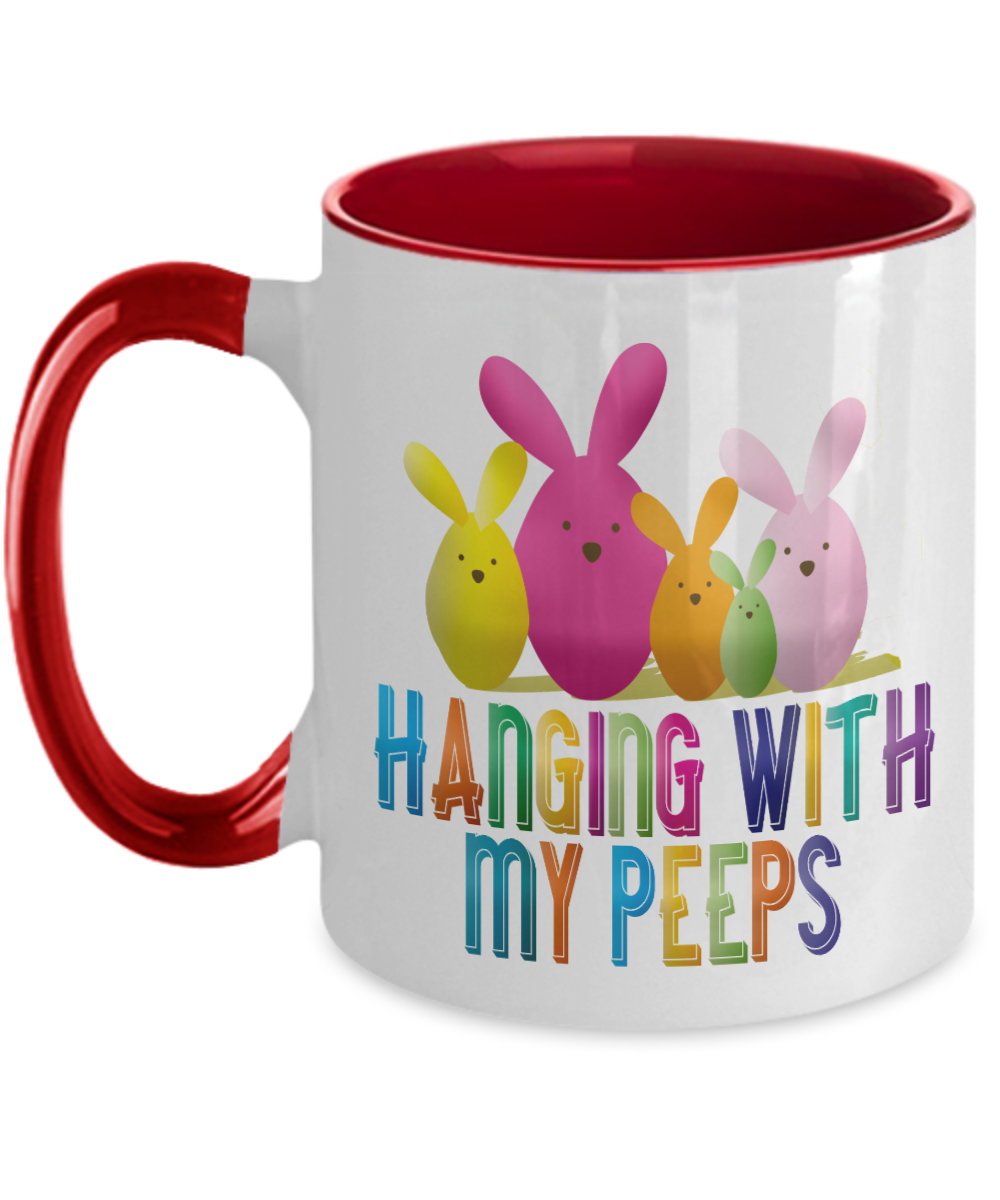 Cute Easter Gift Mug Hanging With My Peeps