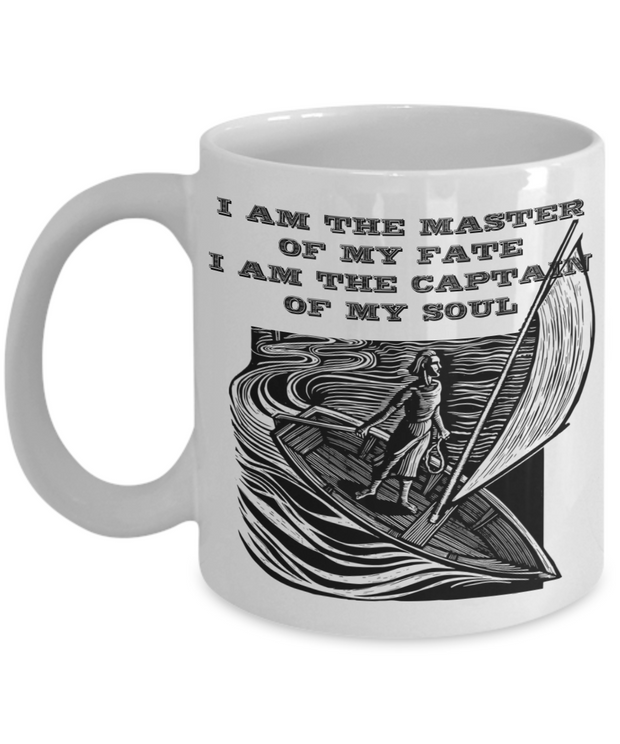 Empowerment Mug I Am The MASTER OF MY FATE Inspiring Gift Coffee Cup