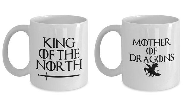 Couple Mug Set GOT King of the North Mother of Dragons
