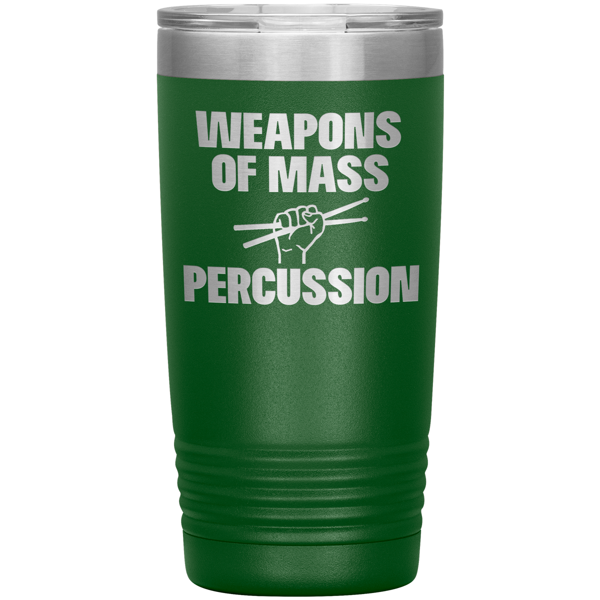 Drummer Gift Tumbler Weapons of Mass Percussion