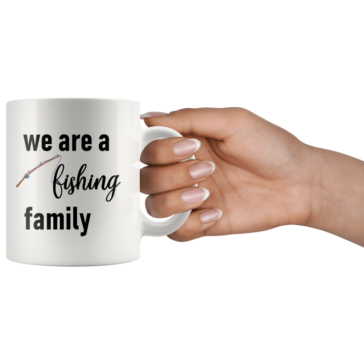 Fishing Enthusiasts Mug We are a Fishing Family Fisherman Gift Idea