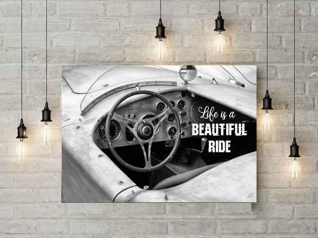 Vintage Car Canvas Art Life Is A Beautiful Ride