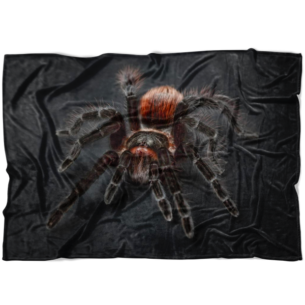 Tarantula Fleece Blanket Warm and Cozy Creepy Home Decor