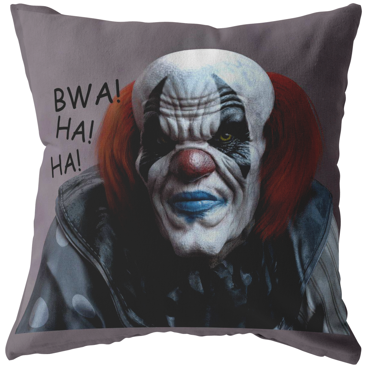 Creepy Clown Pillow