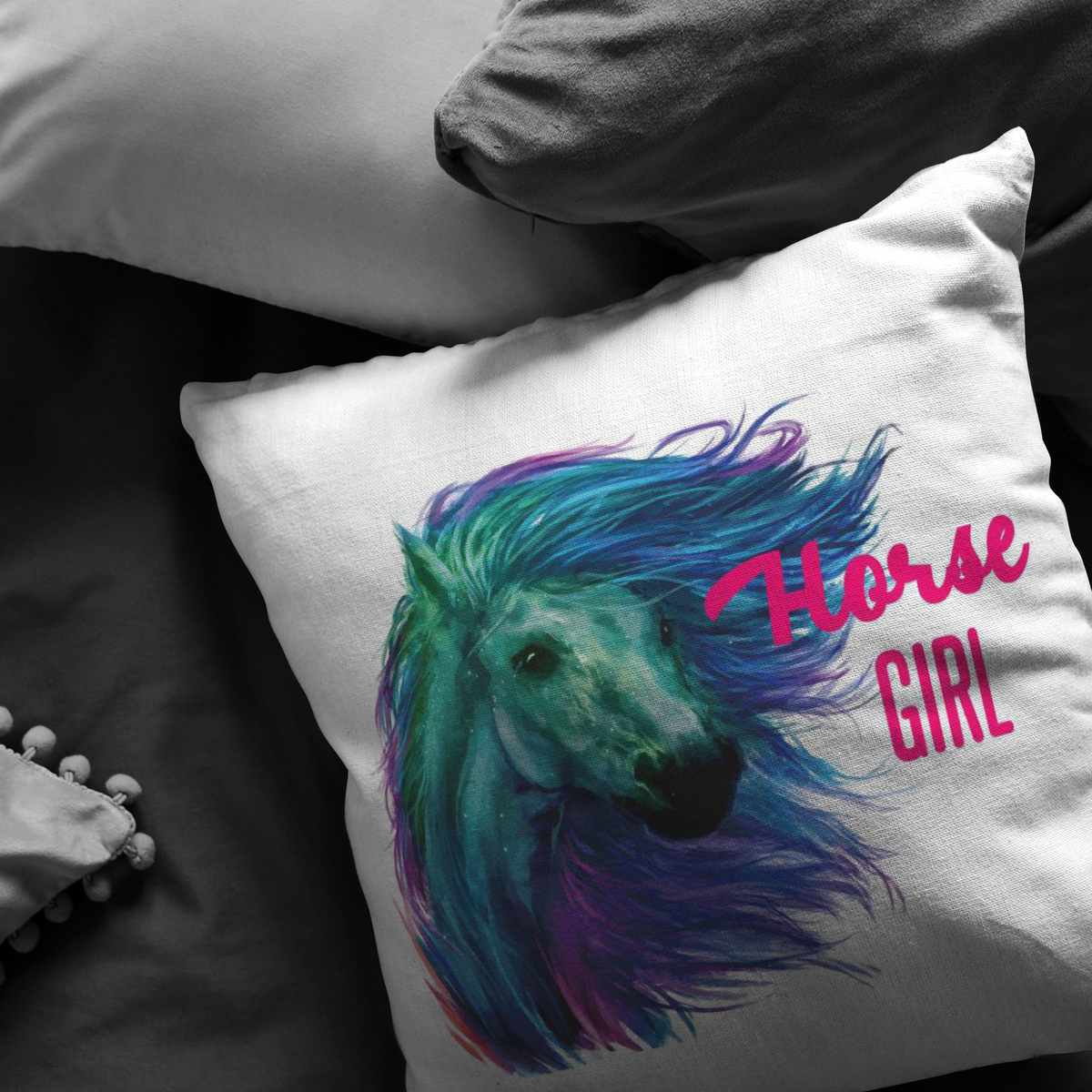 Horse Lover Gift Horse Girl Throw Pillow