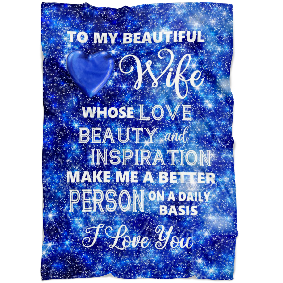 Wife I Love You Fleece Blanket