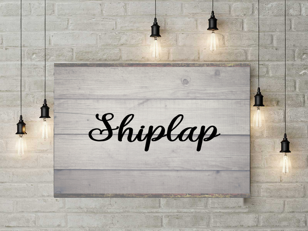 Shiplap Canvas Wall Art
