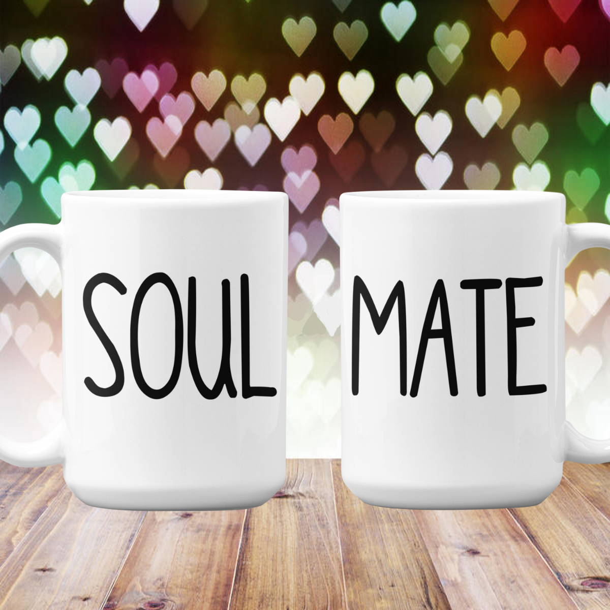 Soul Mate Couples Gift Mug Set