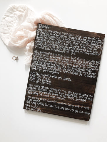Wedding Vows Wood Sign