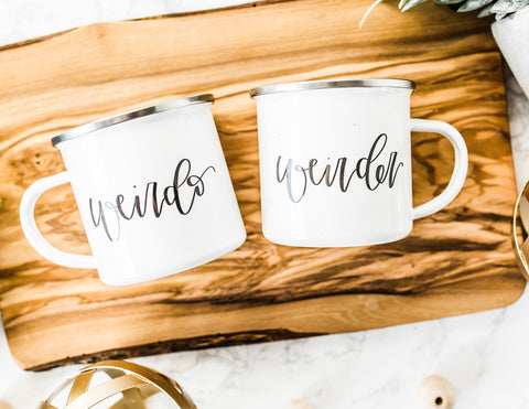 Weirdo & Weirder Mug Set