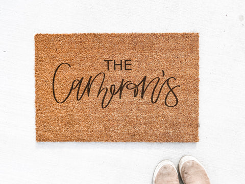 Family Name Custom Doormat