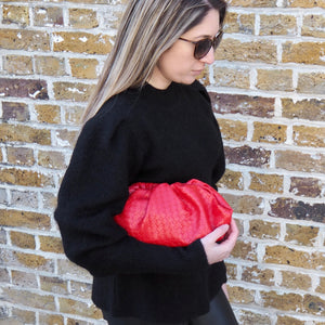 CLOUD BAG EMBOSSED  - RED
