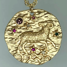 Load image into Gallery viewer, GEM ZODIAC NECKLACE