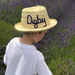 CHILDREN'S PERSONALISED HAT (please note delay due to covid-19)