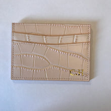 Load image into Gallery viewer, LEATHER CROC CARD HOLDER - PERSONALISED (PRE-ORDER)