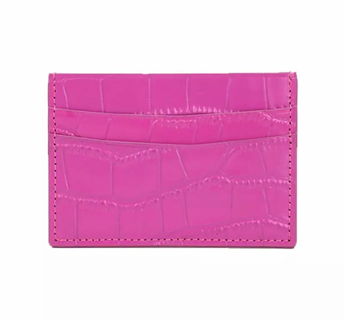 LEATHER CRO CARD HOLDER - PERSONALISED (PRE-ORDER)