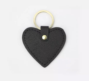 LEATHER SAFFIANO PERSONALISED KEYRING (PRE-ORDER)