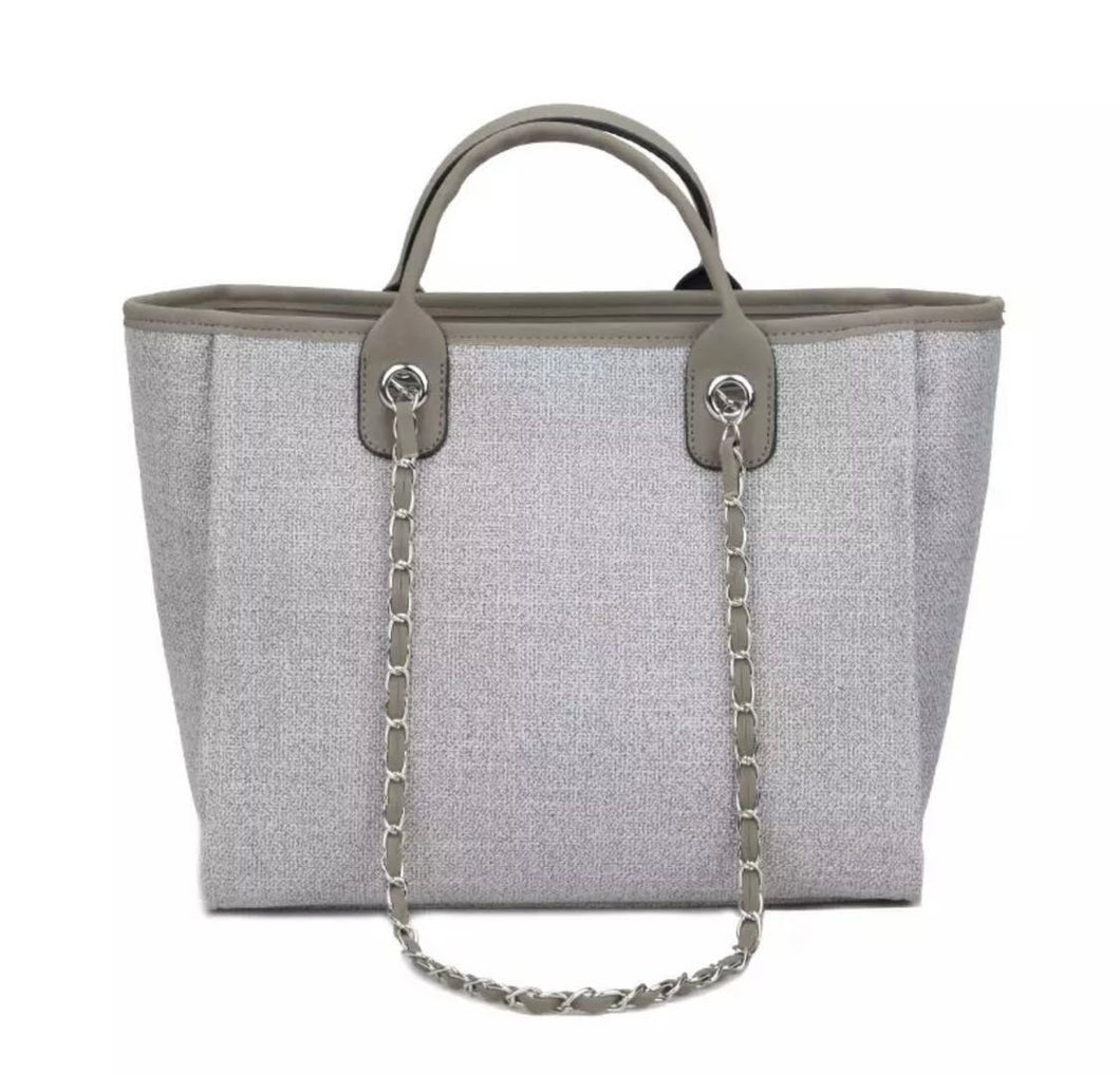 GREY CANVAS TOTE BAG (PRE-ORDER)