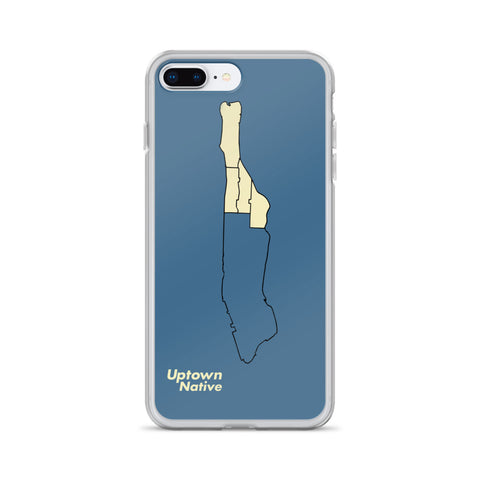 Uptown Map iPhone Case