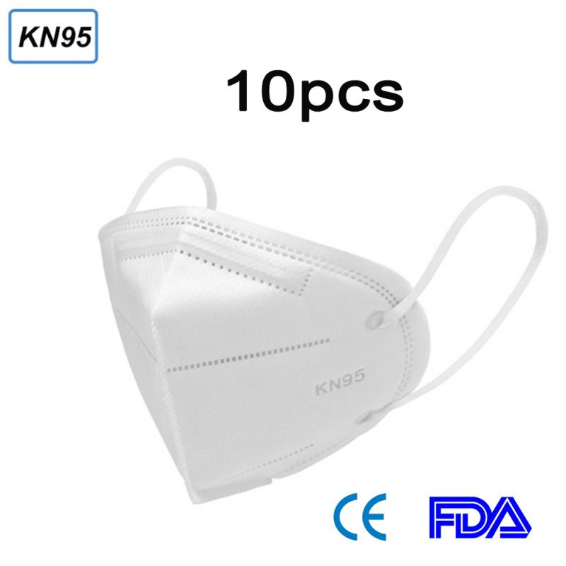 10PCS KN95 Mask, 6 Layer Disposable Face Masks Filter 95% PM2.5 Activated Carbon Filter Mouth Mask