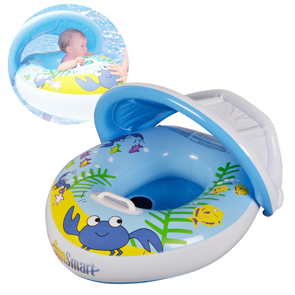Baby Swim Ring Pool Float (Blue Boat)