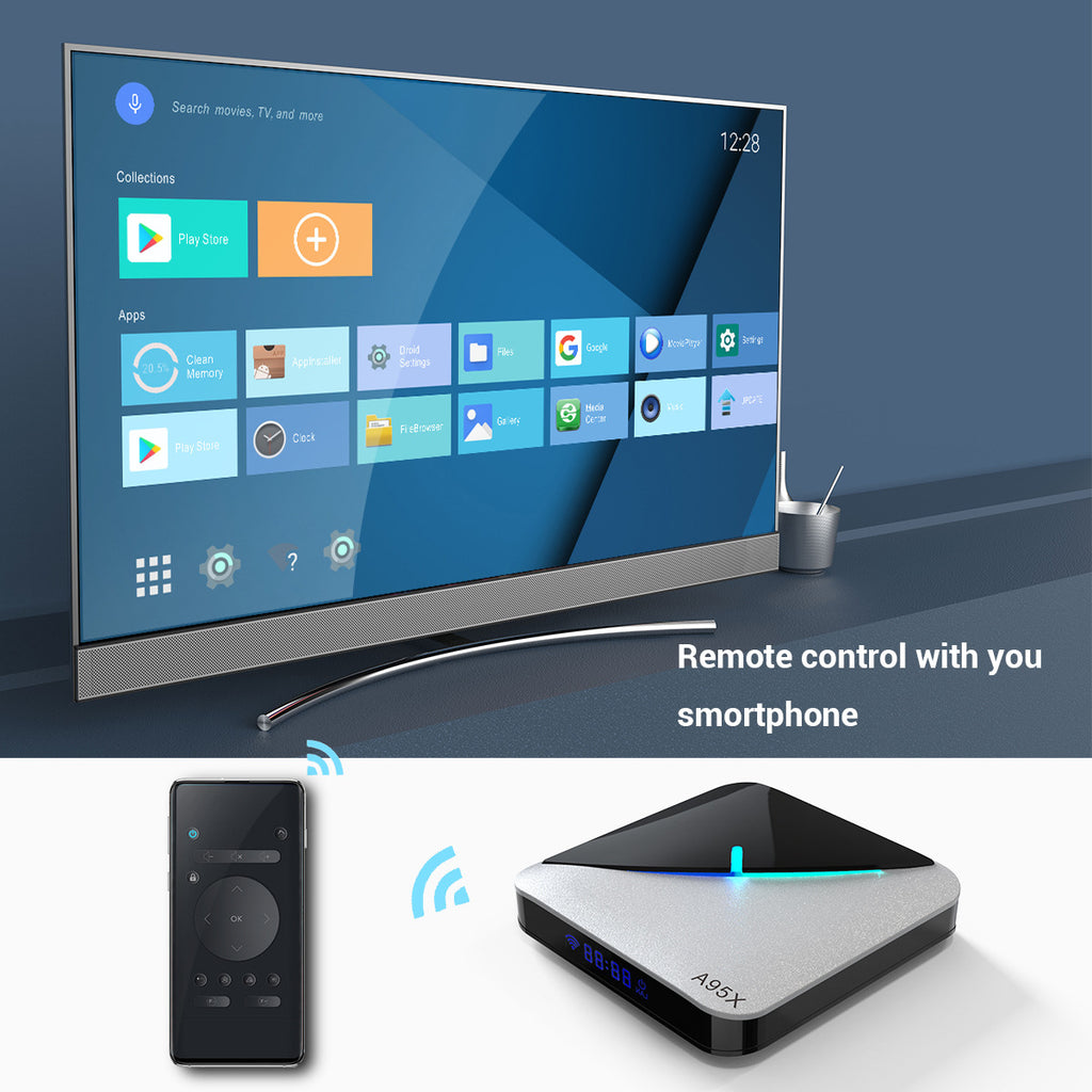 RGB light TV BOX A95X F3 Air S905X3 4G+64G Smart TV BOX Android 9.0 Dual Wifi 1080P 4K Youtube Set Top Box