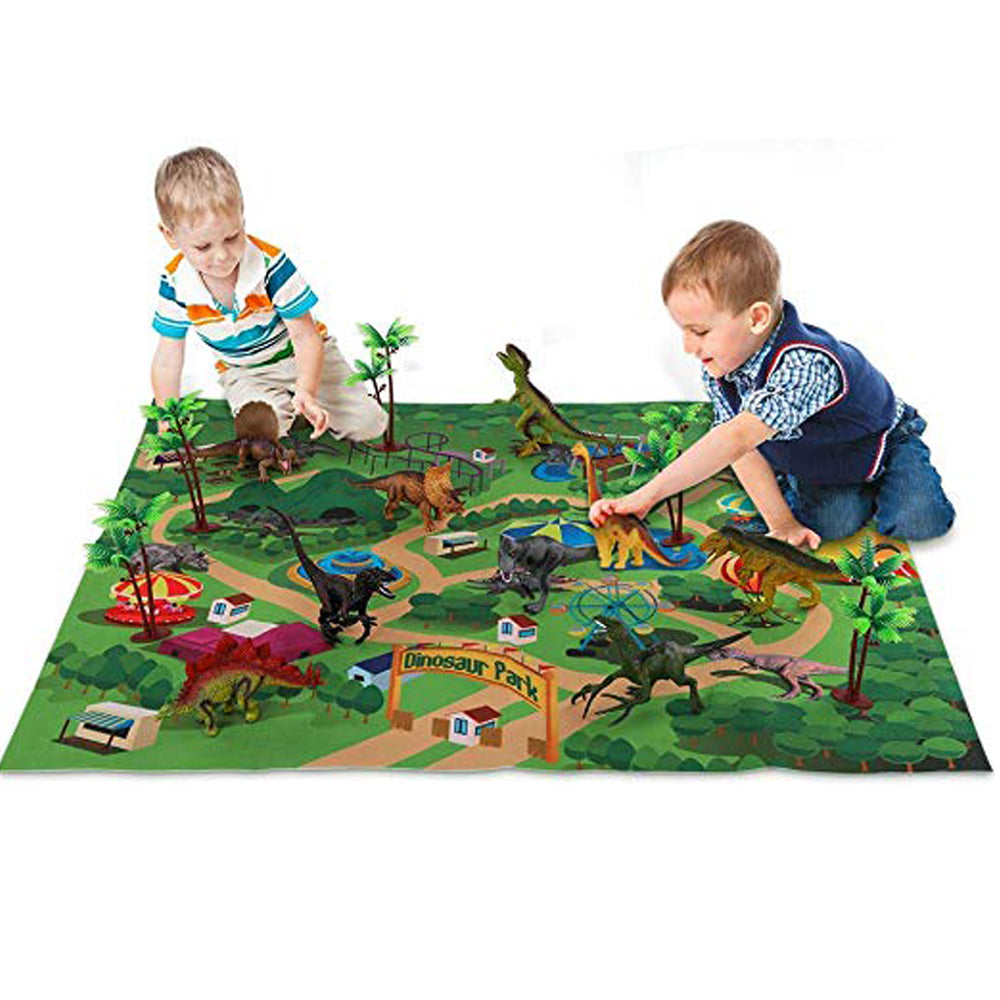 Dinosaur Toy Figure with Activity Play Mat & Trees