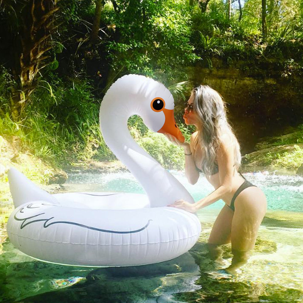 Giant Inflatable Swan Swim Ring Pool