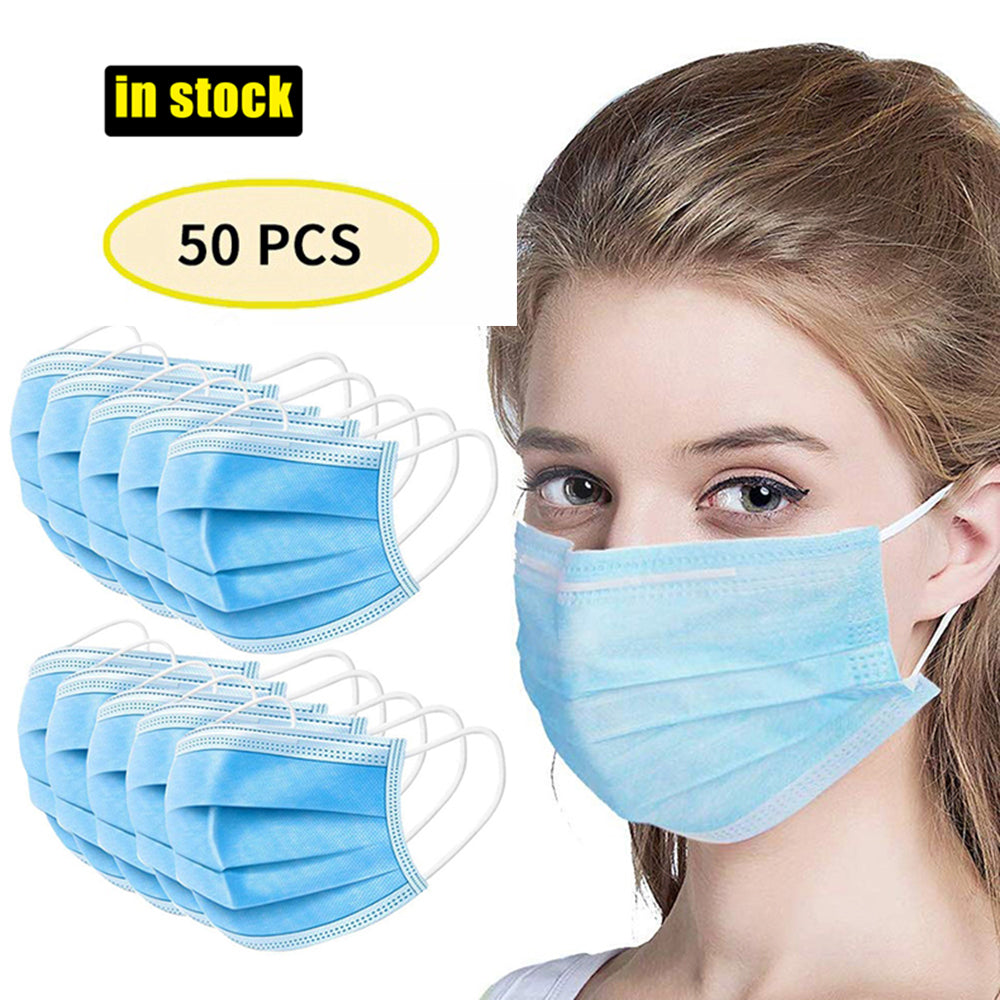 50 Pcs 4 Layer Disposable Mask Anti Dust Mouth-muffle Face Masks Men Women Anti Fog Face Mouth Masks Breathable Mouth Cover