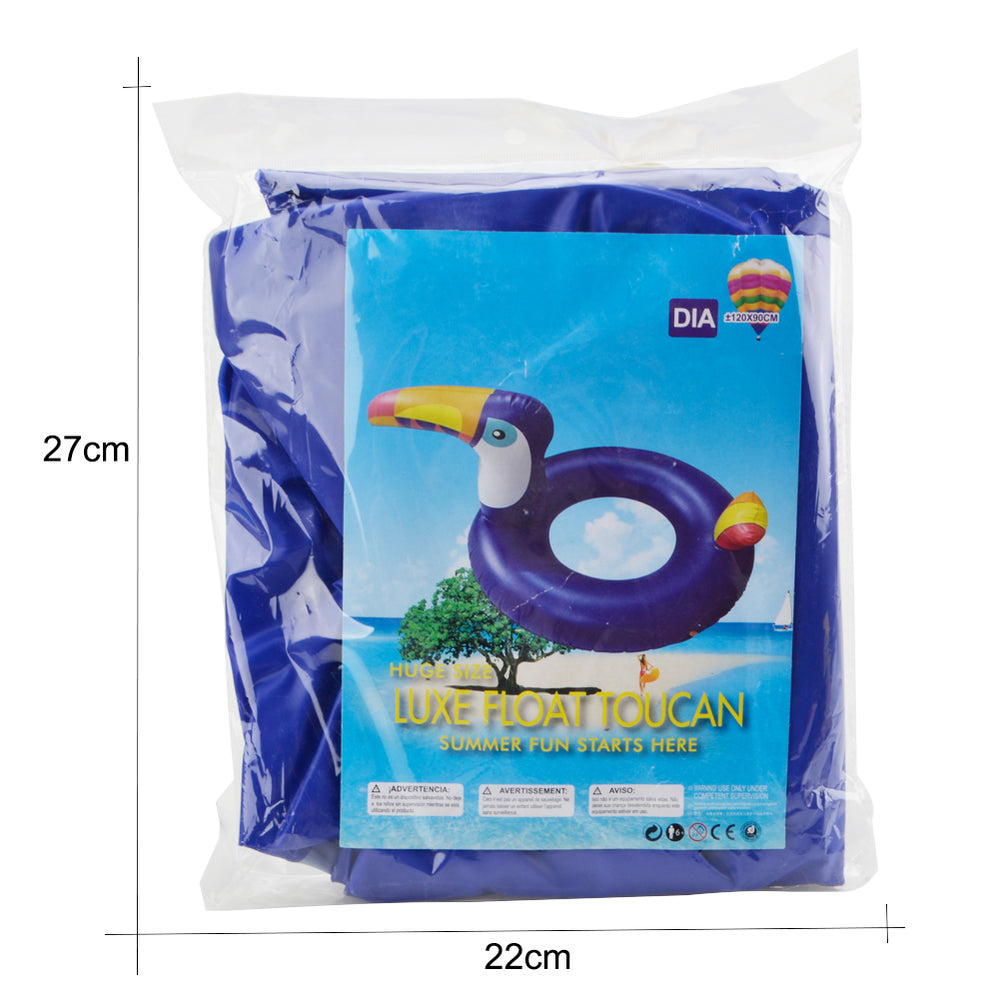 Toucan Bird Swim Pool Ring Lovely Toucan Bird Swimming Ring for Kids Boys Girls Summer Outdoor Inner Tube Swimming Toy