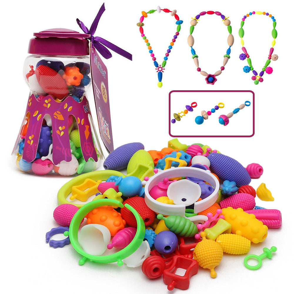 Snap Pop Beads Girls Toy - 85 Pieces