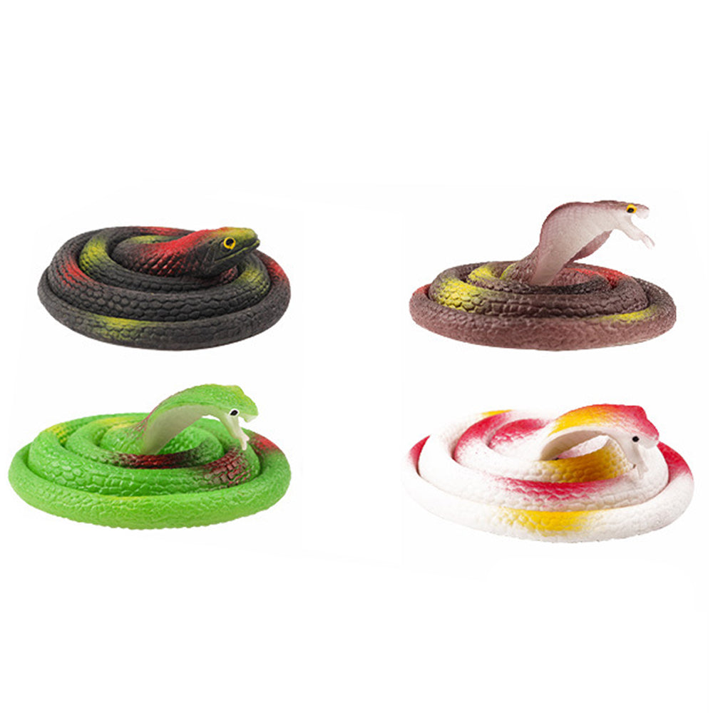 Realistic Remote Control RC Snake 1 pc with Egg-Shaped Infrared Controller with 4 pcs Realistic Rubber Fake Snake Tricky Scary Toy