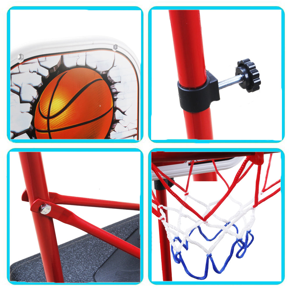 Kids Adjustable Protable Basketball Set