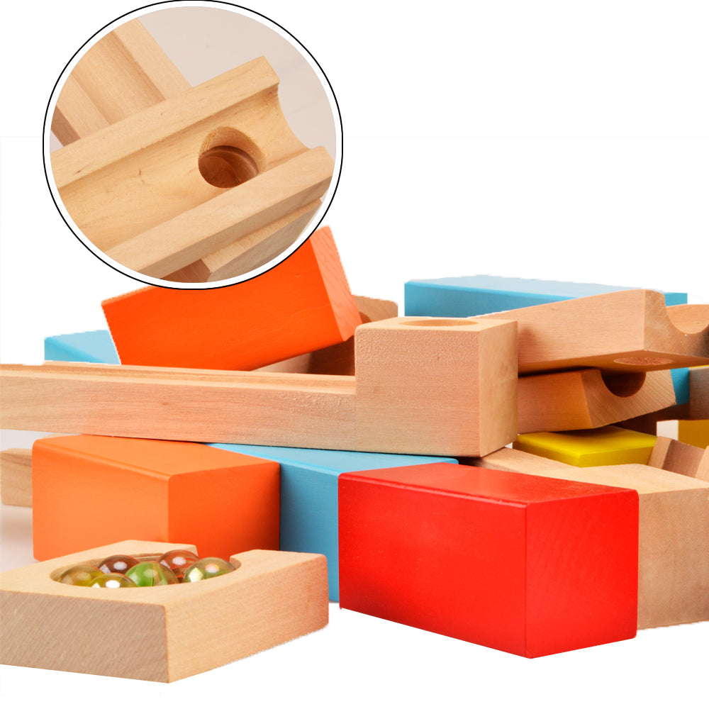 Wooden Marble Run Construction Blocks