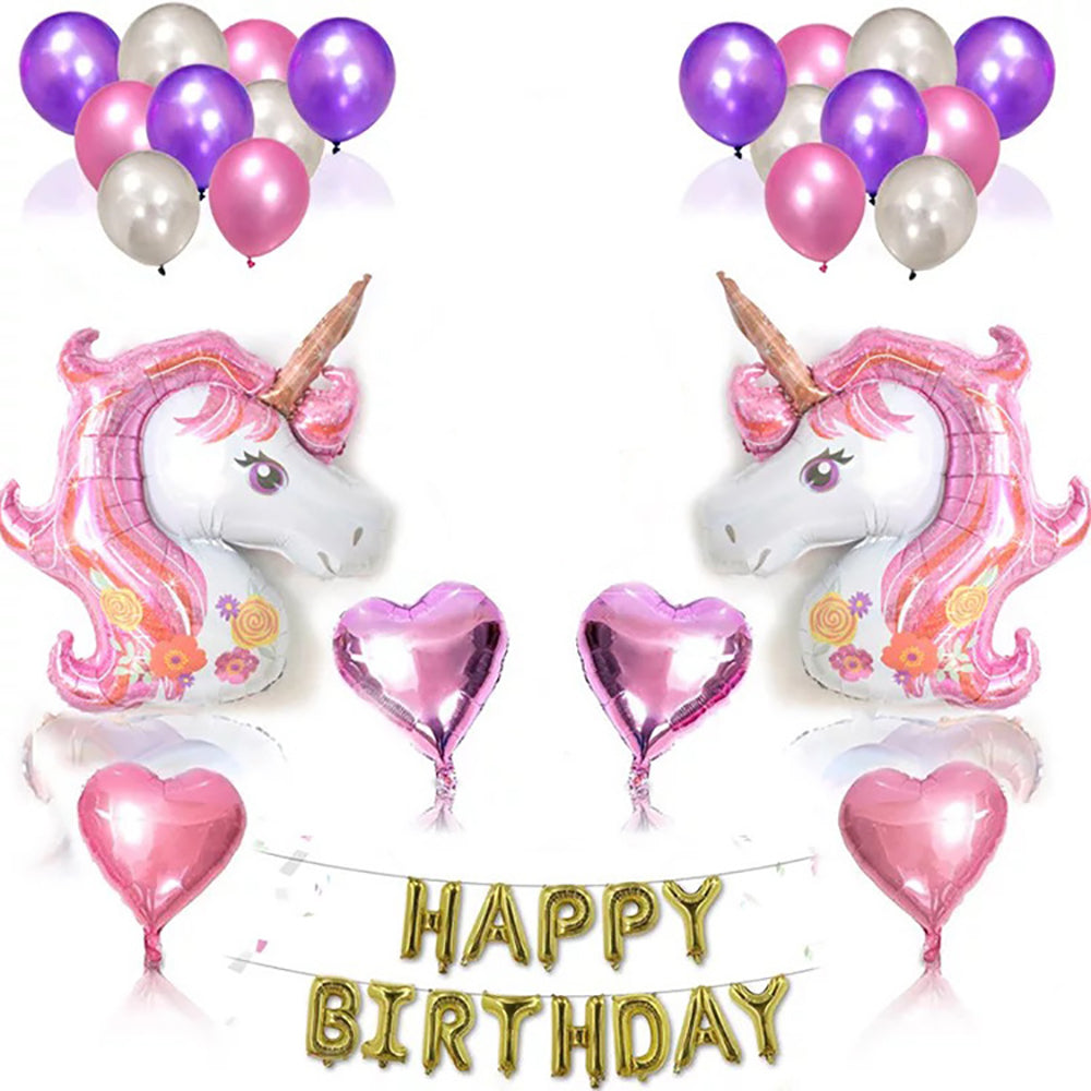 Unicorn Party Supplies Set Baby Shower Home Office Decor, Birthday Backdrop Packs