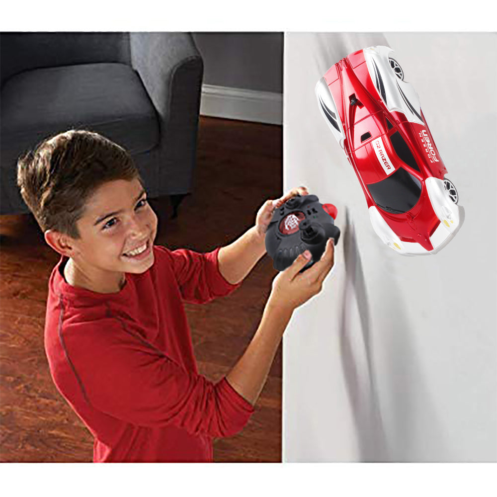 Wall Climbing RC Car 2020 Remote Control Wall Climbing Car Kids Toys Dual Mode 360°Rotating Stunt Rechargeable High Speed Vehicle with LED Lights Xmas Gift for Boys Girls(red)