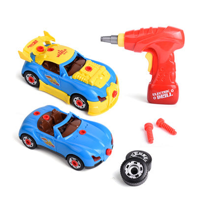 Take Apart Toy Racing Car Kit Model Toy Drill Screws DIY Assembly Car Toy