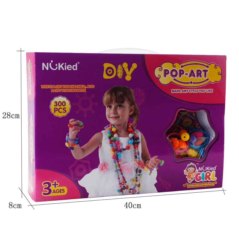 Snap Pop Beads Girls Toy - 300 Pieces